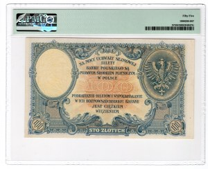 100 złotych 1919 - seria S.B. - PMG 55