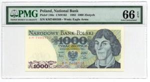 1.000 złotych 1982 - seria KM - PMG 66 EPQ