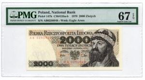 2.000 złotych 1979 - seria AB - PMG 67 EPQ