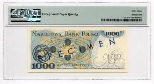 WZÓR/SPECIMEN - 1.000 złotych 1975 - seria A - PMG 67 EPQ - MAX NOTA
