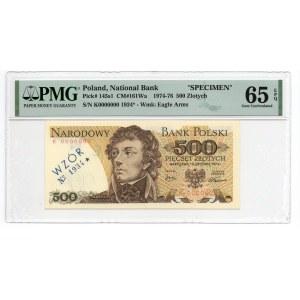 WZÓR/SPECIMEN - 500 złotych 1974 - seria K -PMG 65 EPQ