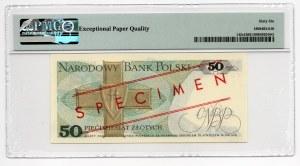 WZÓR/SPECIMEN - 50 złotych 1986 - seria EG - PMG 66 EPQ