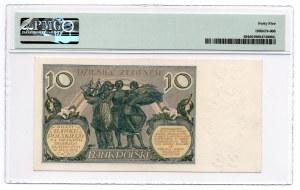 10 złotych 1929 - seria GX - PMG 45
