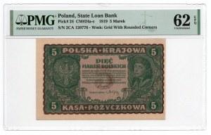 5 Marek 1919 - II Serja CA - PMG 62 EPQ