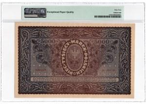 5.000 marek polskich 1920 - III Serja D - PMG 64 EPQ