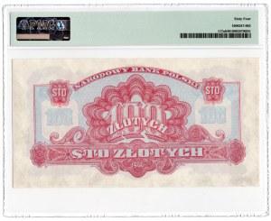 100 złotych 1944 - seria KA - Obowiązkowe - PMG 64