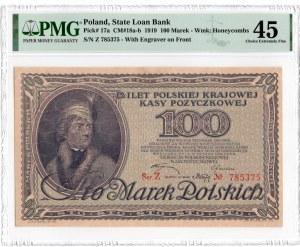100 marek polskich 1919 - seria Z - PMG 45