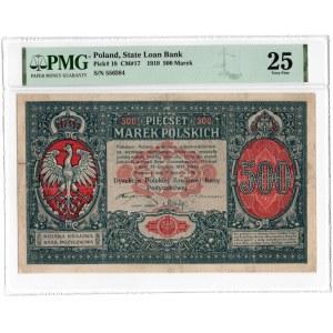 500 marek polskich 1919 - PMG 25