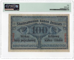 POSEN/POZNAŃ - 100 rubli 1916 - PMG 50