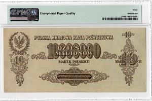 10.000.000 marek polskich 1923 - seria AE - PMG 40 EPQ