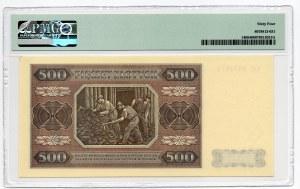 500 złotych 1948 - seria CC - PMG 64