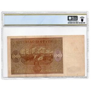 1 000 złotych 1946 - seria F - PCGS 25
