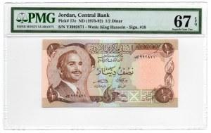 Jordania - 1/2 Dinar 1975 - PMG 67 EPQ