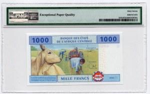 Afryka Centralna - 1000 Franków 2002 - PMG 67 EPQ