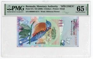 Bermuda - Specimen - 2 Dolary 2009 - PMG 65 EPQ