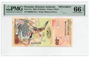 Bermuda - Specimen - 50 dolarów 2009 - PMG 66 EPQ