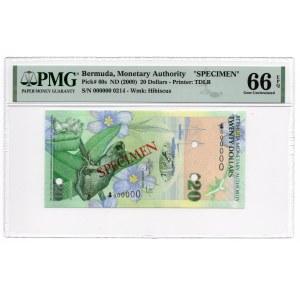Bermuda - Specimen - 20 dolarów 2009 - PMG 66 EPQ