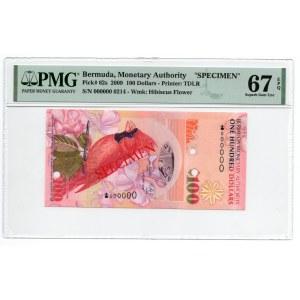 Bermuda - Specimen - 100 dolarów 2009 - PMG 67 EPQ - MAX NOTA