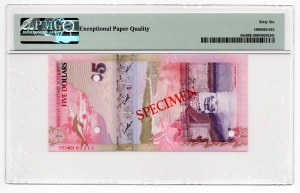 Bermuda - Specimen - 5 dolarów 2009 - PMG 66 EPQ