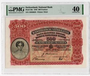 Szwajcaria - 500 franków 1946 - PMG 40