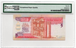 Jordania - 5 Dinars 1997 - PMG 66 EPQ