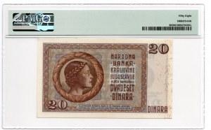 Jugosławia - 20 Dinara 1936 - PMG 58