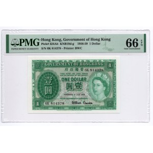 Hong Kong - 1 Dolar 1956 - PMG 66 EPQ