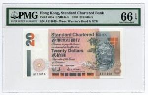 Hong Kong - 20 Dolarów 1993 - PMG 66 EPQ