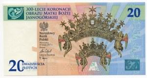 20 złotych 2017 - 300-lecie koronacji Obrazu Matki Boskiej Jasnogórskiej