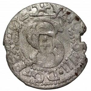 Zygmunt III Waza (1587-1632) - Szeląg 1614 krótka data, odwrócona 4. Ryga - Kolekcja Górecki