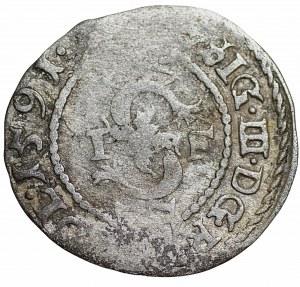 Zygmunt III Waza (1587-1632) - Szeląg 1591 Olkusz- Kolekcja Górecki