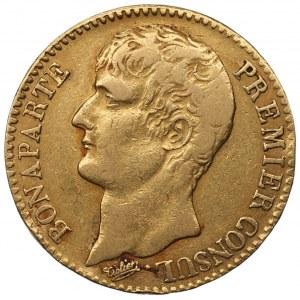 FRANCJA - 40 franków AN 12 (1803) A - Premier Consul - złoto 900
