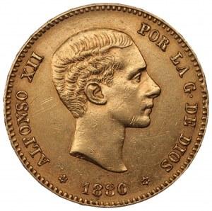 HISZPANIA - Król Alfons XII (1875-1885) - 25 pesetas 1880
