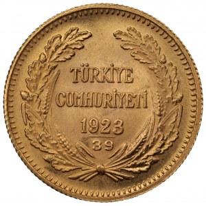 TURCJA - 100 Kurush 1923 AN39 (1961) - złoto Au900, 7,21 gram