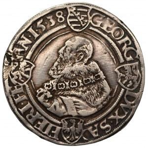 NIEMCY - Saksonia - Jan Fryderyk I i Jerzy - Talar 1538 Annaberg