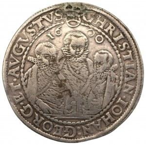 NIEMCY - Saksonia - Krystian II, Jan Jerzy I i August - Talar 1600 - HB Drezno