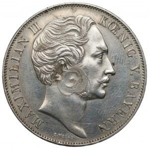 NIEMCY - Bawaria Maksymilian II Józef - Talar / 2 guldeny 1855 - Patrona Bavariae