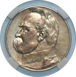 II RP - 5 złotych 1934 - Piłsudski Orzeł Strzelecki- NGC AU Details
