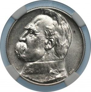 II RP - 5 złotych 1934 - Piłsudski Orzeł Strzelecki- NGC UNC Details