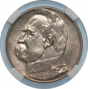 II RP - 5 złotych 1934 - Józef Piłsudski - NGC UNC Details