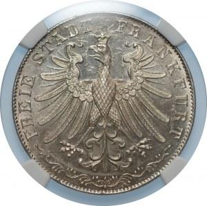 NIEMCY - Frankfurt - Iohann Wolfgang von Goethe - 100. rocznica urodzin - 2 Guldeny 1849 - NGC UNC Details