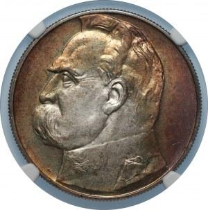 II RP - 10 złotych 1936 - Józef Piłsudski - NGC UNC Details
