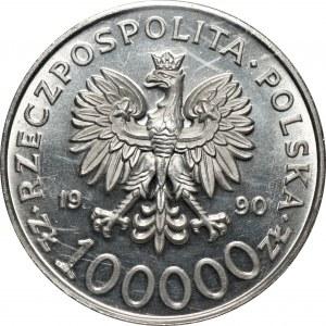 100.000 złotych 1990 - Solidarność - TYP A - PCG MS70