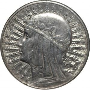 II RP - 10 złotych 1933 - Głowa kobiety - PCG MS68