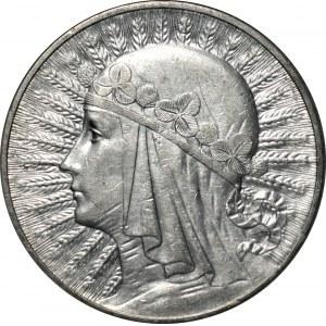 II RP - 10 złotych 1932 - Głowa kobiety BZM - PCG MS68