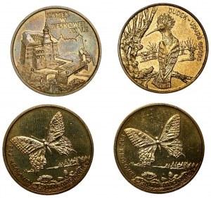 Zestaw 4 sztuk monet - 2 złote (1997 - 2000), Zamek w Pieskowej Skale, Dudek