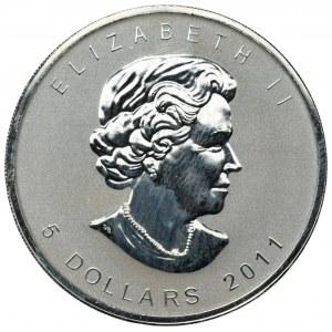 KANADA - 5 Dolarów 2011 - uncja czystego srebra
