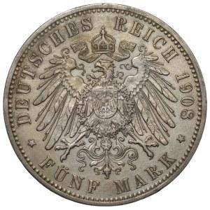 NIEMCY - Prusy - 5 marek 1908