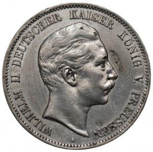 NIEMCY - Prusy - 5 marek Wilhelm II 1907