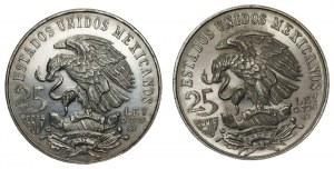 MEKSYK - 2 x 25 peso 1968 - Srebro